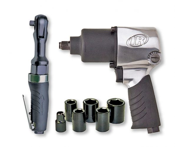 ingersoll-rand-air-impact-wrench-set-594x500 Air Compressor and Air Impact Wrench Combo