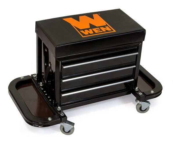 rolling-tool-chest-seat-597x500 Tool Organizers: Tool Box, Tool Chest, & Tool Cart